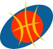 Basketbalembleem Royalty-vrije Stock Afbeeldingen