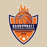 Basketbalembleem, het embleem van Amerika Stock Foto