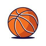 Basketbalembleem, het embleem van Amerika Royalty-vrije Stock Afbeelding