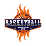 Basketbalembleem, het embleem van Amerika Stock Afbeelding