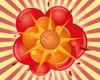 Basketbalexplosie Royalty-vrije Stock Foto's