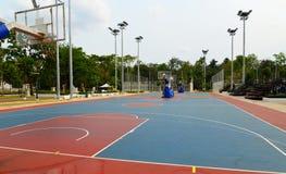Basketbalgebied Stock Fotografie