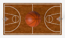 Basketbalgebied Royalty-vrije Stock Foto's