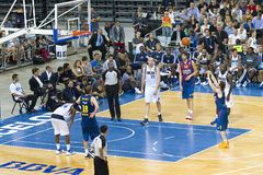Basketbalgelijke Barcelona versus Dallas Royalty-vrije Stock Foto's
