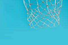Basketbalhoepel met netto royalty-vrije stock fotografie