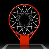 Basketbalhoepel op zwarte Royalty-vrije Stock Foto's