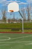 Basketbalhoepel in park Stock Fotografie