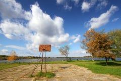 Basketbalhof stock foto