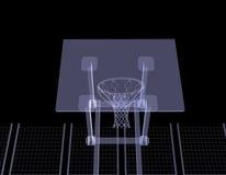 Basketbalhof. Röntgenstraal Stock Afbeelding