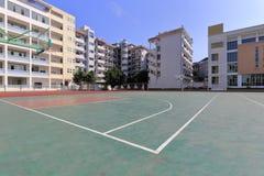 Basketbalhof van middelbare school van de ningde de nationale minderheid Royalty-vrije Stock Afbeeldingen