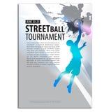 Basketbalillustratie speler Het concept van de sport Stock Foto's