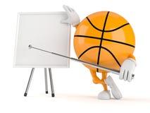 Basketbalkarakter met spatie whiteboard stock illustratie