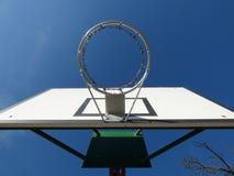 Basketbalketen rings houten raad Stock Foto