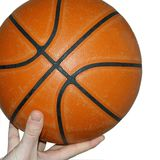 Basketball. On the fingers on white background royalty free stock images