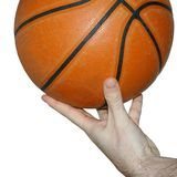 Basketball. On the fingers on white background stock images