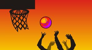 Basketball stock abbildung