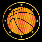 Basketball. Vector illustration of a basketball Royalty Free Stock Image