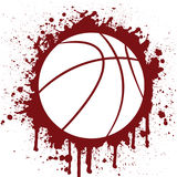 Basketball. Vector illustration of a basketball Royalty Free Stock Photography