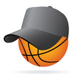 Basketball. Vector illustration of a basketball Royalty Free Stock Images