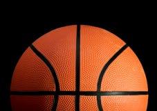Basketball. Stock image of basketball over black background Stock Image
