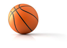 Basketball. Close up of a basketball - 3d render illustration Stock Photos