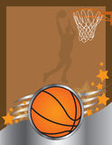 Basketball. Illustrated background using basketball images Royalty Free Stock Photo