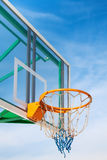 Basketball. Hoop in the park against the blue sky Royalty Free Stock Images