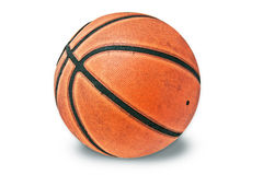 Basketball. A basketball on white background Stock Images