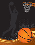 Basketball. Themed background with player Stock Photo