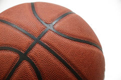Basketball 2. Part of basket ball on white background stock photos