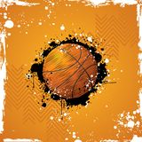 Basketball. Illustration of basketball on abstract grungy background Stock Photography