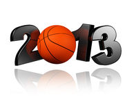 Basketball 2013. With a White Background Royalty Free Stock Photo
