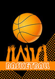 Basketball. Vector orange & black background Royalty Free Stock Photography