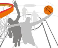 Basketball. Vector illustration of basketball action Royalty Free Stock Photo