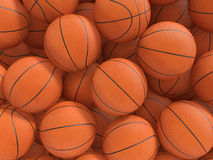 Basketball. Sport balls background. 3d rendered illustration Stock Photography