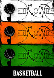 Basketball. Abstract colorful grunge basketball banners Royalty Free Stock Photography