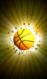 Basketball. Abstract grunge color basketball background with space Stock Photography