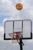 Basketball. Before getting into the hoop-streetball match detail Royalty Free Stock Images