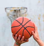 Basketball. Player about to shoot Stock Photos