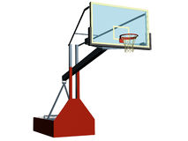 Basketball. Computer image, basketball 3D, isolated white background Royalty Free Stock Photo