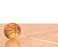 Basketball 3d getrennt auf einem Weiß Lizenzfreie Stockfotos