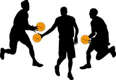 Basketball. Silhouette of basketball players illustration royalty free illustration