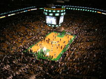 Basketball. Before an NBA game at Boston's TD Banknorth Garden royalty free stock image
