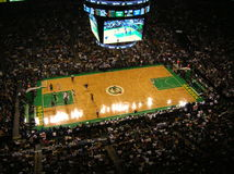 Basketball. An NBA game at the TD Banknorth Garnden in Boston, Massachusetts Royalty Free Stock Photo
