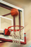 Basketball. Flying basketball royalty free stock images