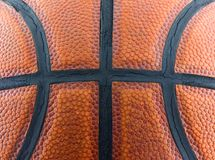 Basketball. Texture close up for background Stock Photos