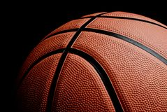 Basketball. Picture of an orange basketball Royalty Free Stock Photography
