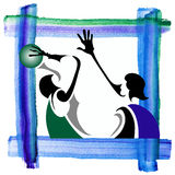 Basketball 1 Lizenzfreies Stockbild