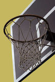 Basketball. Hoop, net and table on unreal background Royalty Free Stock Photo