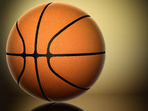 Basketball. On gold background 3d with shadow Stock Photos
